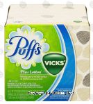 Puffs Plus Lotion non medicated white 2-ply tissues with the scent of vicks Center Front Picture