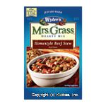Wyler's Mrs. Grass Hearty Soup Mix Homestyle Beef Stew Center Front Picture