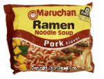 Maruchan  ramen noodle soup pork flavor add to boiling water Center Front Picture