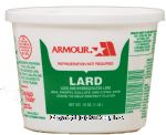 Armour  lard and hydrogenated lard Center Front Picture