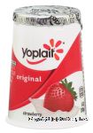 Yoplait Original strawberry yogurt 99% fat free Center Front Picture