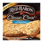 Red Baron Pizza  Classic Crust 4 Cheese Center Front Picture