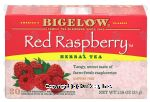 Bigelow Herb Tea Bags Red Raspberry All Natural Caffeine Free Center Front Picture