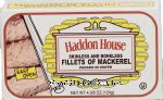 Haddon House  skinless and boneless fillets of mackerel packed in water Center Front Picture